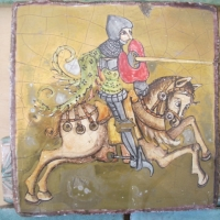 Cavaliere dipinto a mano