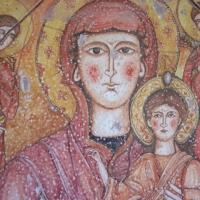 Icona in ceramica con Madonna
