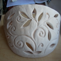 Plafoniera in ceramica.JPG