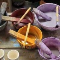 Decorazione ceramiche rossi
