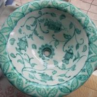 Lavello in ceramica pesci.JPG