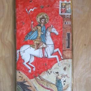 San Giorgio riproduzione antica fatta a mano