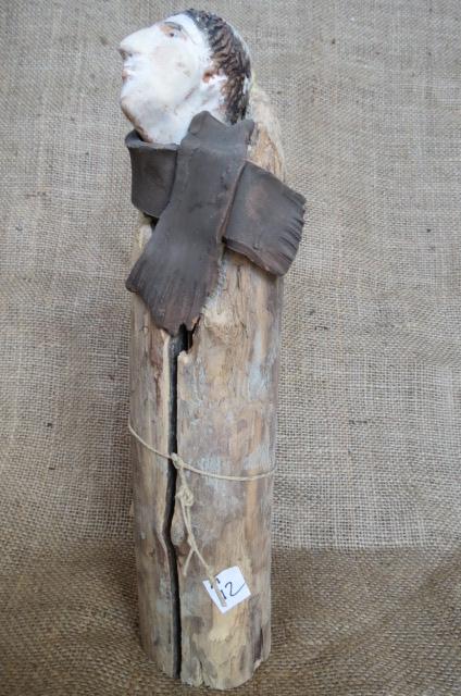 Statua di frate in terracotta