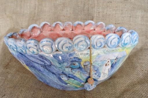 Vaso in ceramica omaggio a chagalle