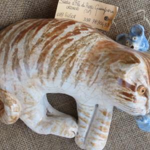 Gattino e orsetto in ceramica fatta a mano