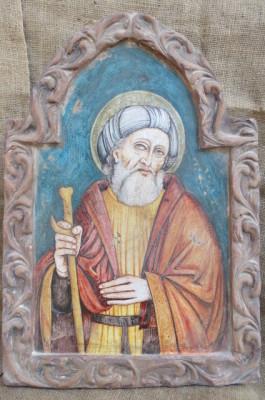 San Giuseppe dipinto a mano su ceramica