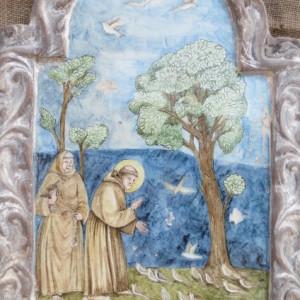 Riproduzione fatta a mano della predica di S.Francesco2