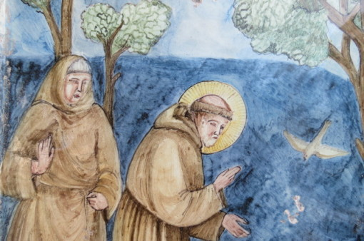 Riproduzione fatta a mano della predica di S.Francesco